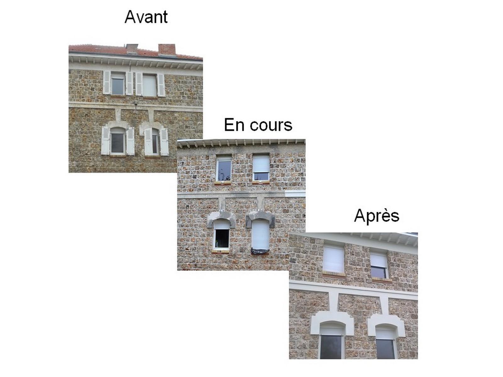 Chantier epoye isologis isolation thermique embellissement de fa ade - Maison en pierre meuliere ...